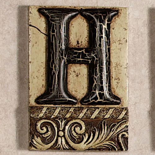 Alphabet Tile Plaque Letter H Touch Of Class