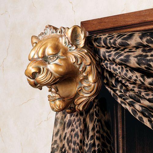 Lion Head Bracket Pair