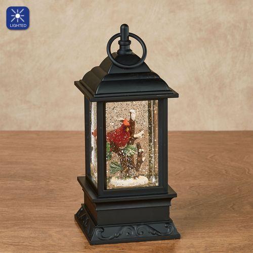 Cardinal Lighted Water Lantern Black