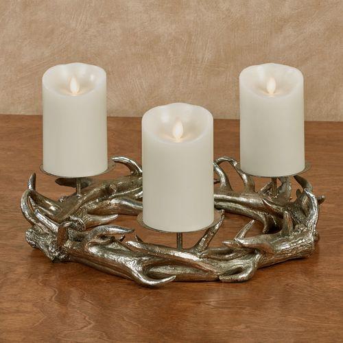 Antler Candleholder Silver
