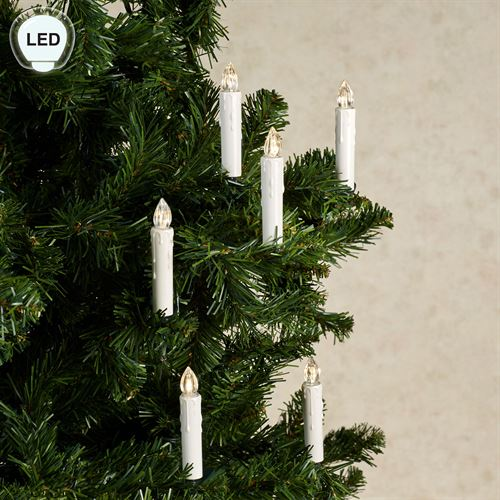 Clip On LED Taper Candles and Remote Multi Warm 11 Piece Set
