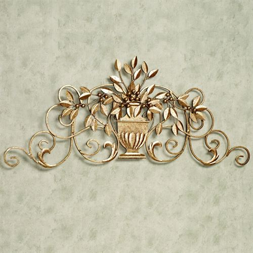 Urna Toscana Wall Grille Aged Gold