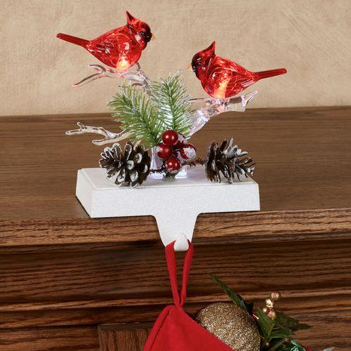 Cardinal LED Stocking Holder Red