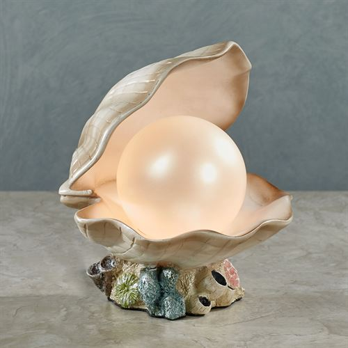 Clamshell Accent Lamp Ivory