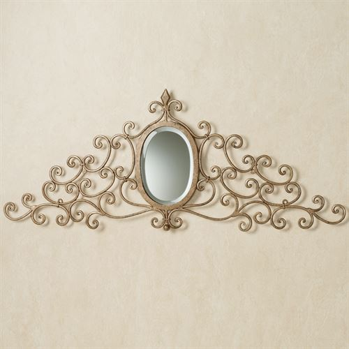 Mariella Mirrored Wall Grille Antique Gold