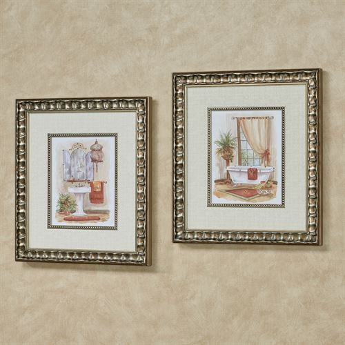 Watercolor in Spice Framed Wall Art Multi Warm Set of Two