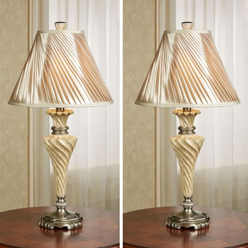 Aleisha Table Lamp Pair with CFL Bulbs
