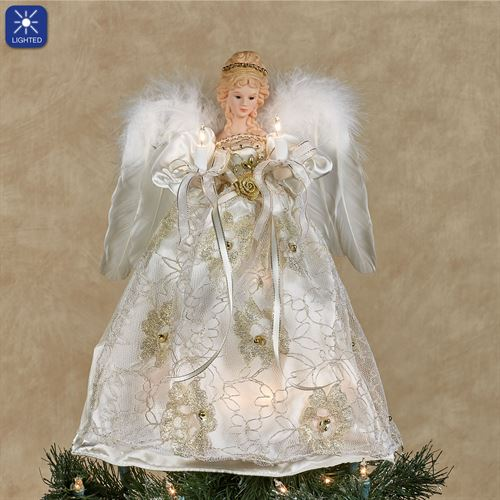 Guiding Light Angel Tree Topper Ivory