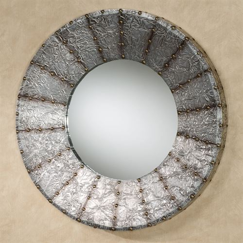 Radiate Wall Mirror Antique Pewter