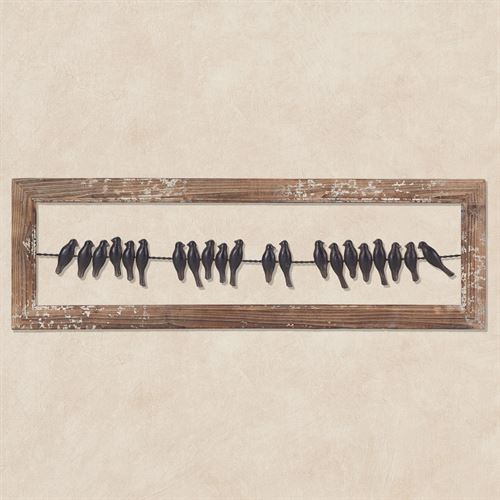 Birds on a Wire Framed Wall Art Brown