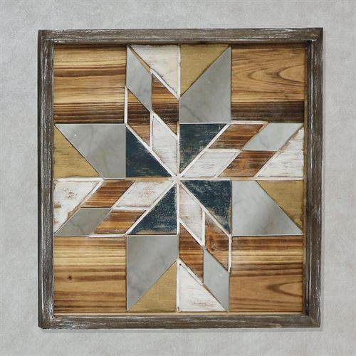 Bryson Mirrored Mosaic Star Wooden Wall Art