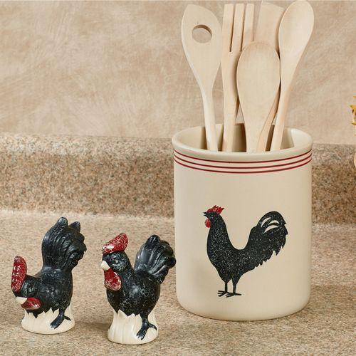 Rooster Kitchen Accessories Linen Set of Three
