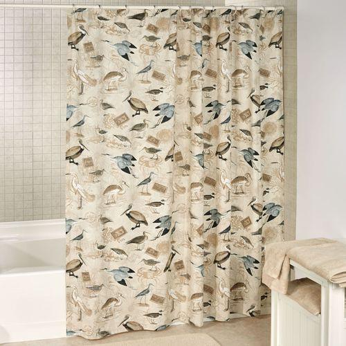 Marshland Shower Curtain Multi Earth