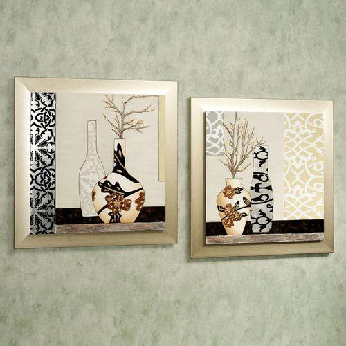 Sophistication Wall Plaque Set Multi Metallic Set of Two
