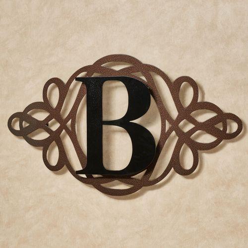 Avley Monogram Wall Art Sign Copper/Black