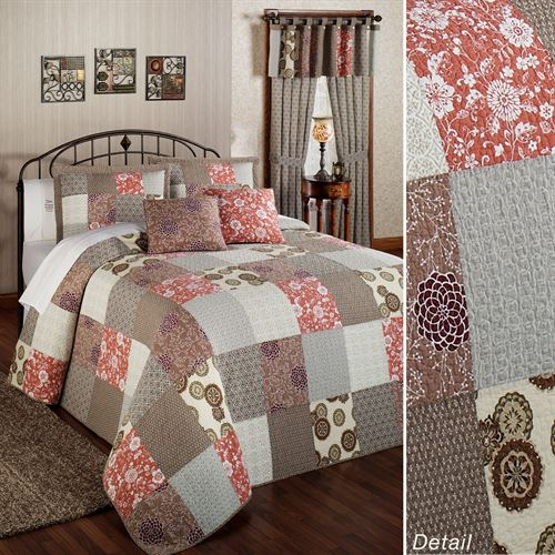 Stella Cotton Patchwork Twin Bedspread Set