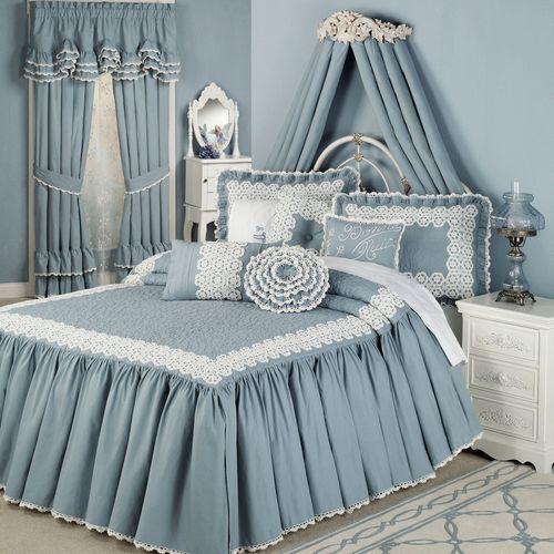Devotion Grande Bedspread Steel Blue