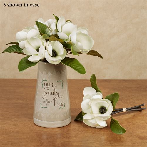 Magnolia Floral Bouquet Ivory/Green
