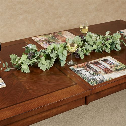 Berries and Miller Leaf Centerpiece Green