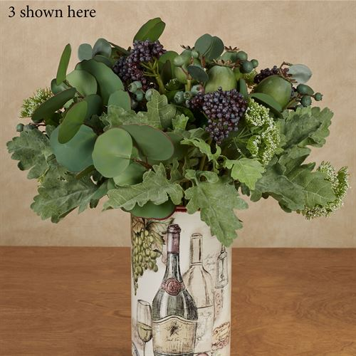 Berries and Miller Leaf Bouquet Green