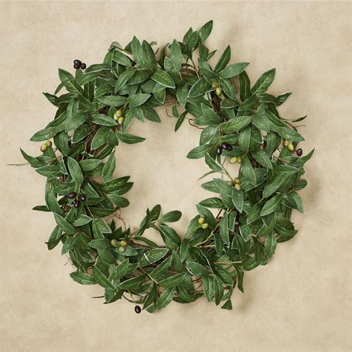 Olive Leaf Faux Greenery Indoor Outdoor Wreath