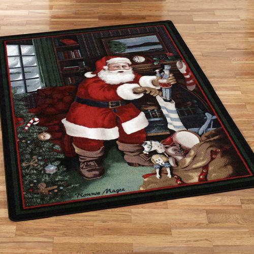 Santas Visit Rectangle Rug