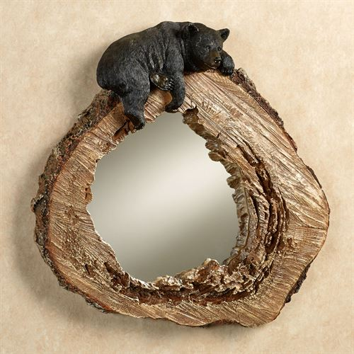 Lazy Bear Wall Mirror Brown