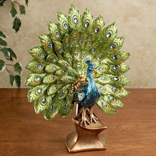 Elegant Peacock Sculpture Multi Cool