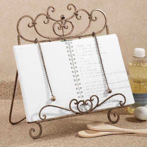 Cristiano Cookbook Stand Antique Mahogany