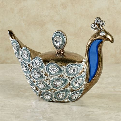 Feathered Splendor Covered Box Blue