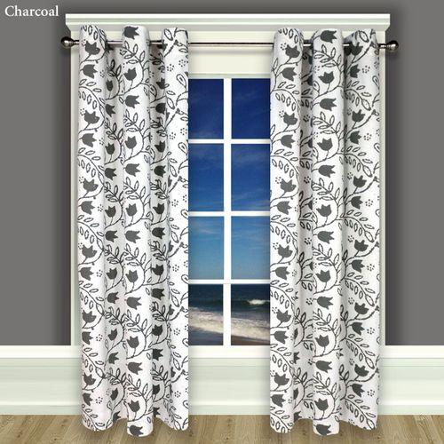 Garden Imprint I Grommet Curtain Panel