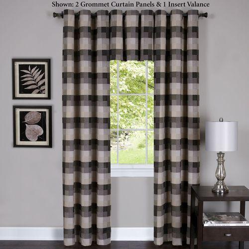 Harvard Grommet Curtain Panel Black