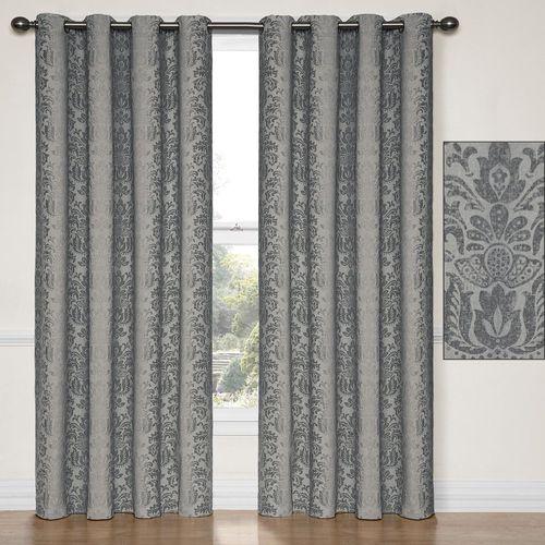 Nadya Grommet Curtain Panel Charcoal