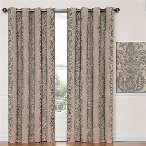 Nadya Grommet Curtain Panel Taupe