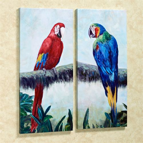 Rainforest Jewels Canvas Art Multi Bright Set of Two