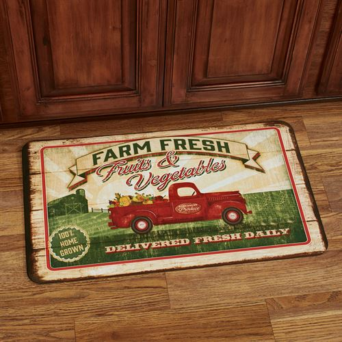 Vegetable Truck Comfort Mat Multi Bright 30 x 18