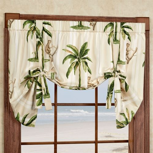 Completely new Tropica Palm Tree Tie Up Window Valance VG98