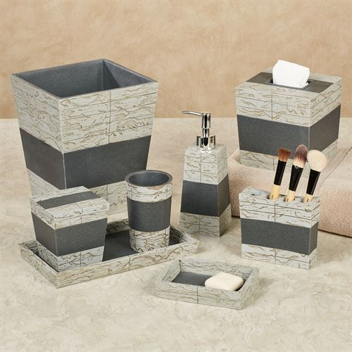 Superbe Rustic Marble And Stone Bath Accessories. Rustic Lotion Soap Dispenser Gray