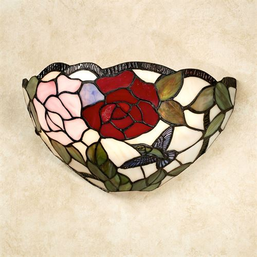 Elsa Rose Stained Glass LED Wall Sconce Multi Jewel