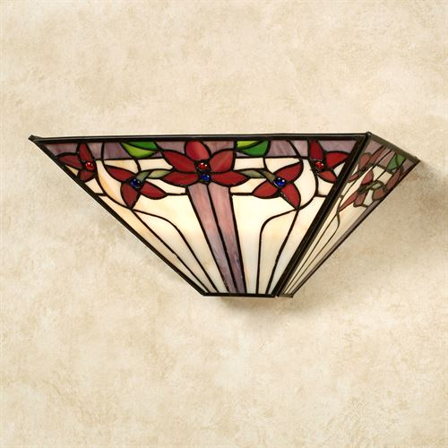 Jalene Stained Glass LED Wall Sconce Multi Jewel
