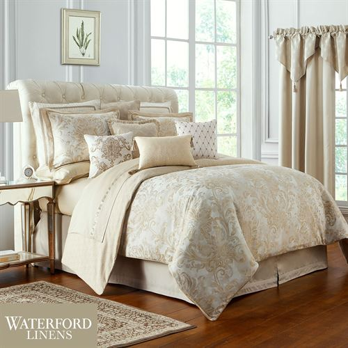 Annalise Comforter Set Gold