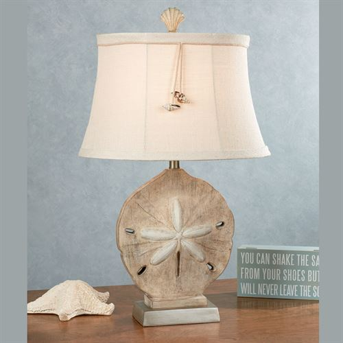 Kalea Sand Dollar Table Lamp Light Cream Each with CFL Bulb