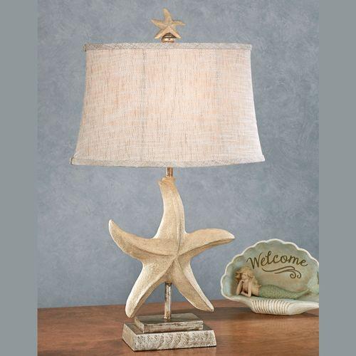 Sugar starfish coastal table lamp sugar starfish table lamp light cream aloadofball Image collections