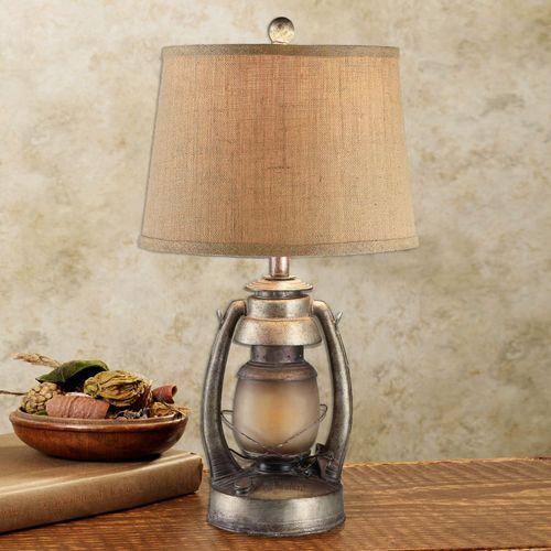 Sherlock lantern table lamp aged gold
