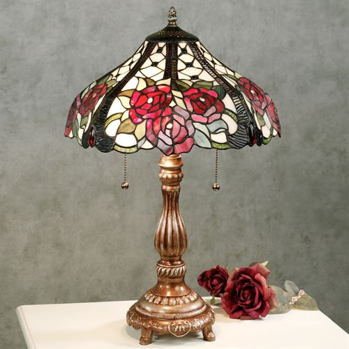 Rosalee Bouquet Table Lamp Burgundy Each