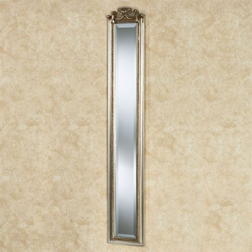 Lorette Draped Wall Mirror Panel Silver Gold