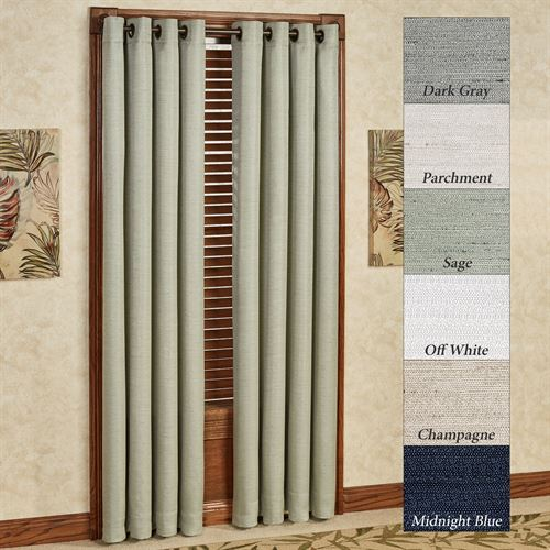 Grasscloth Grommet Curtain Panel