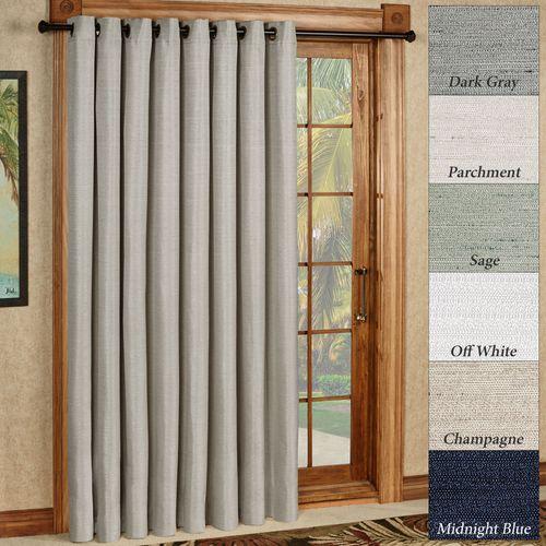 Grasscloth Grommet Patio Curtain Panel 110 x 84