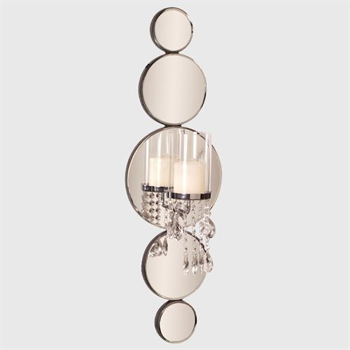 Michele Mirrored Wall Sconce Clear