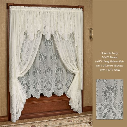 Vanessa Lace Long Swag Valance Window Treatment